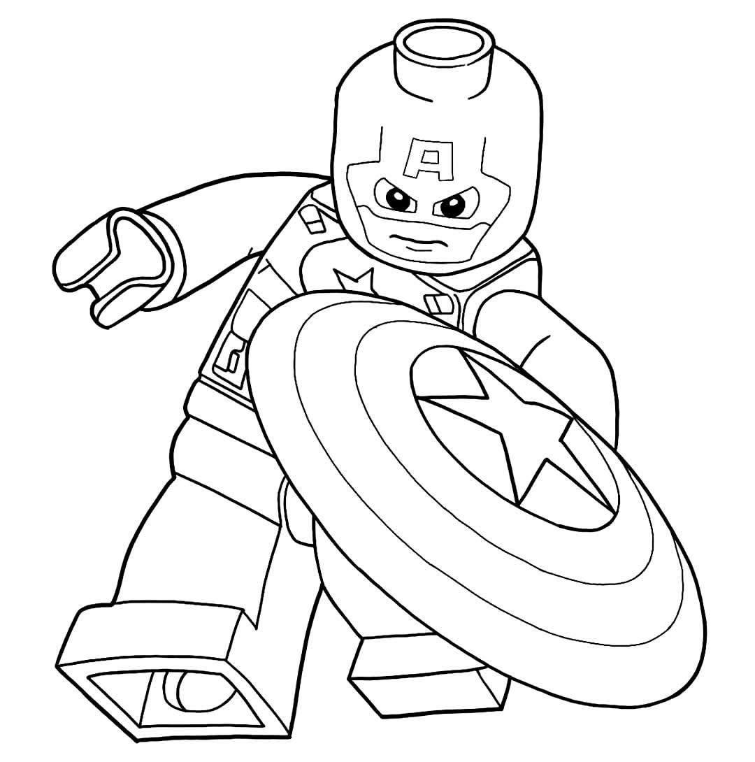 Modelo Lego de Capitão América para colorir