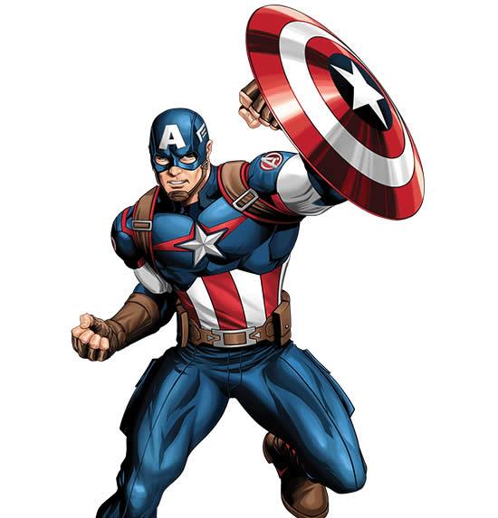 Molde de Capitão América