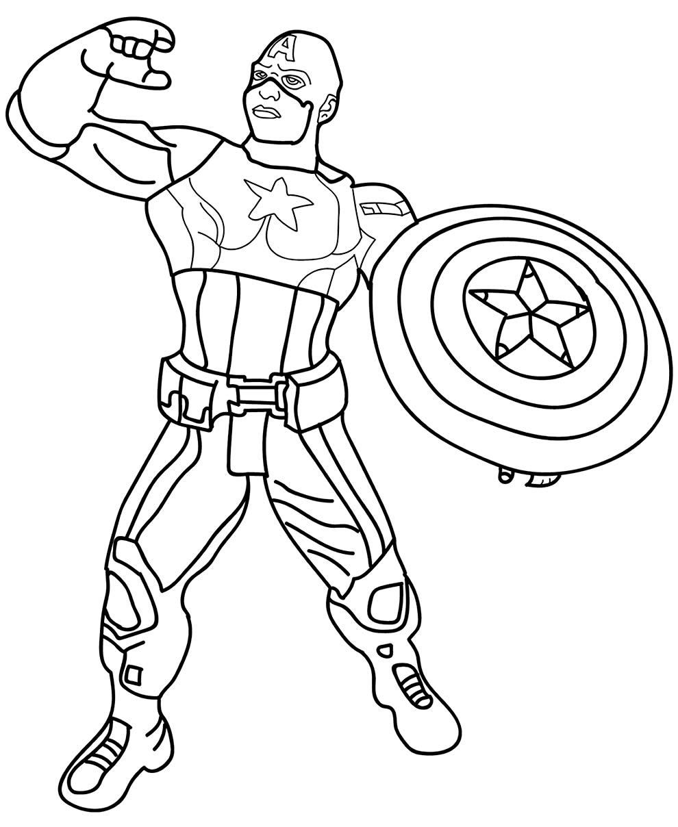 Desenho lindo de Capitão América