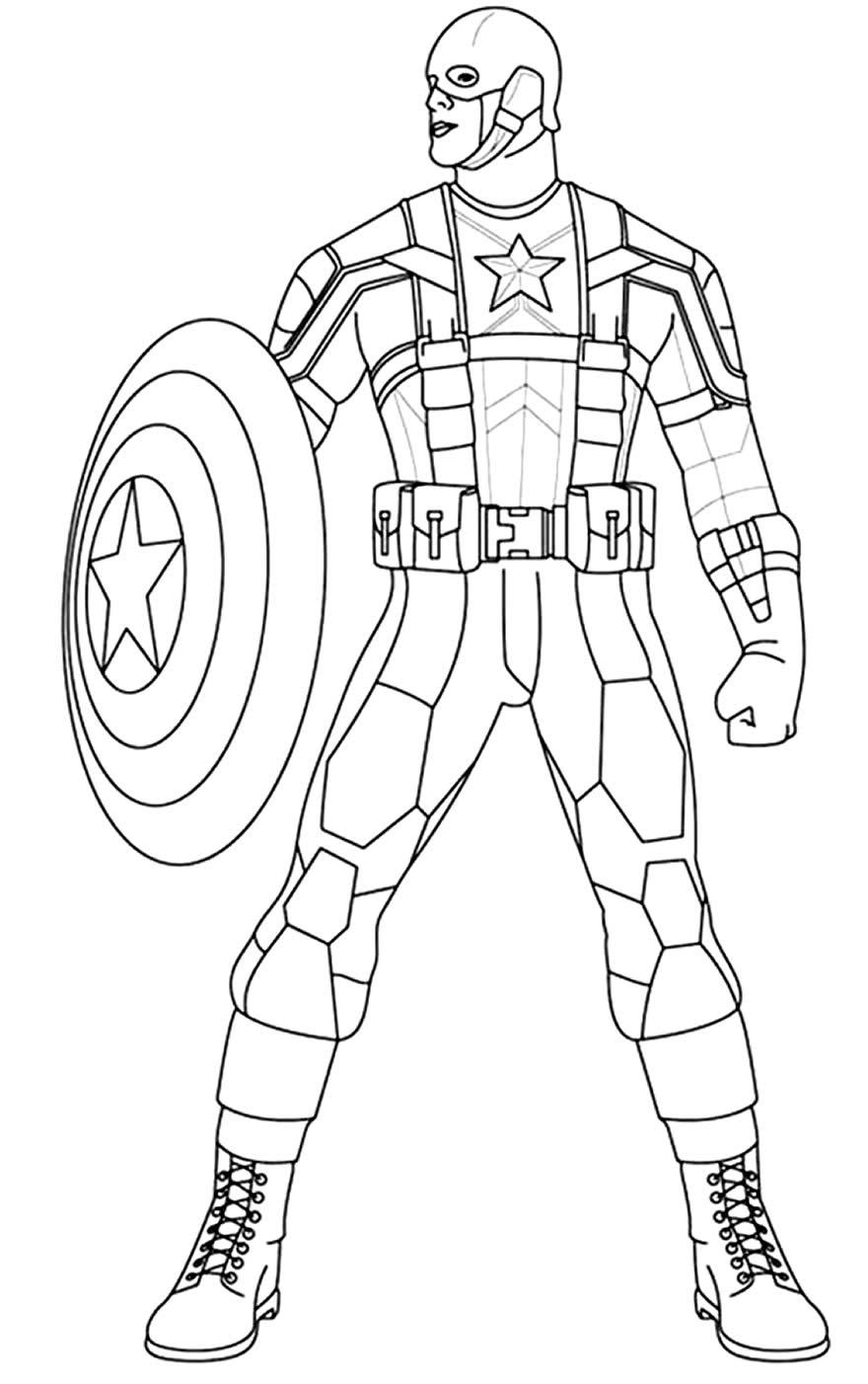 Desenho para pintar de Capitão América