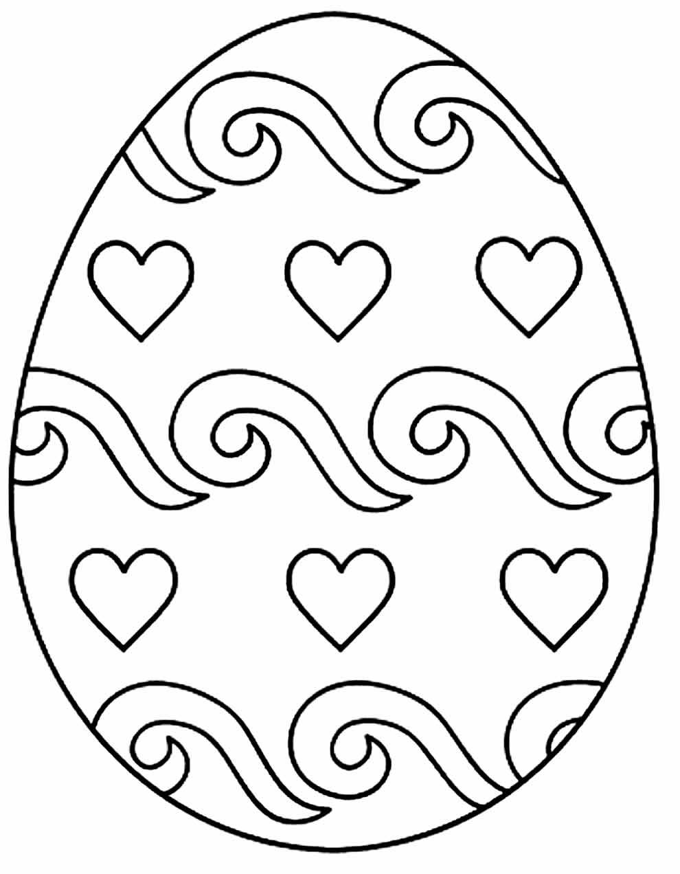 Desenho de Páscoa para pintar e colorir