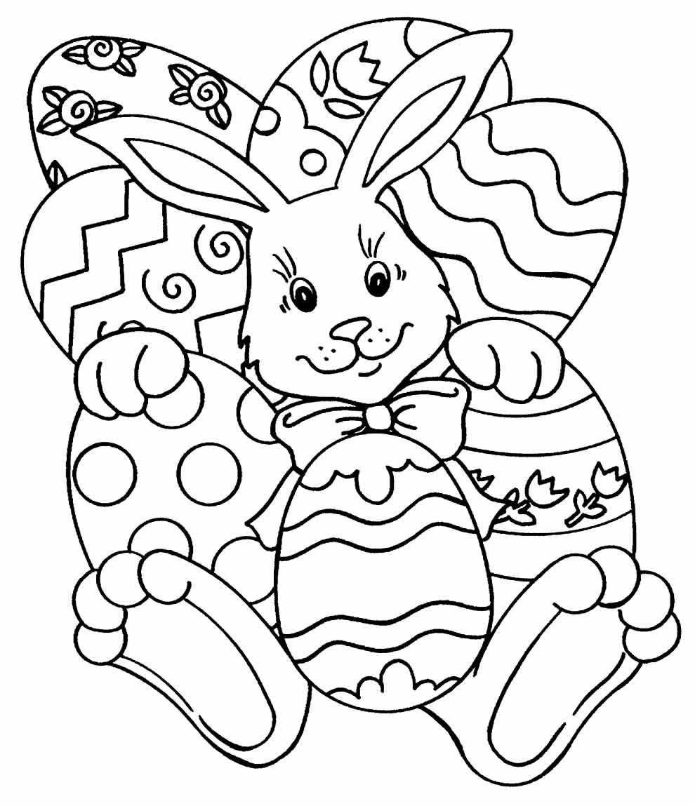 Desenho de coelhinho para colorir