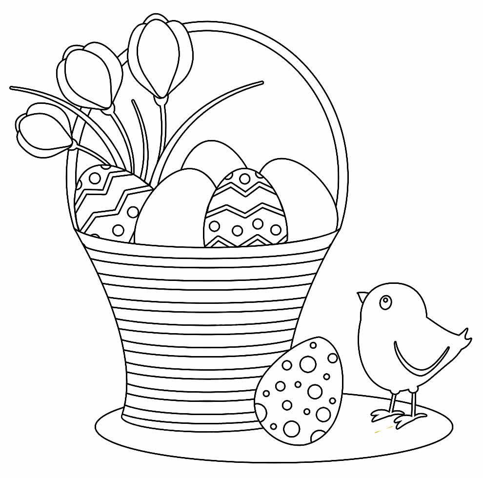 Desenho de Páscoa para pintar
