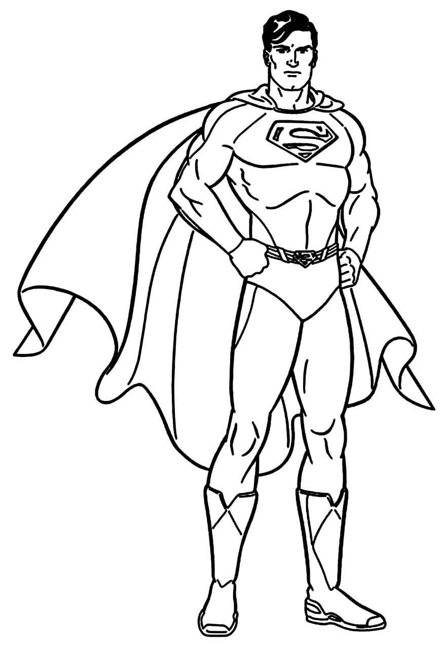 Imagem de Super-Homem para colorir