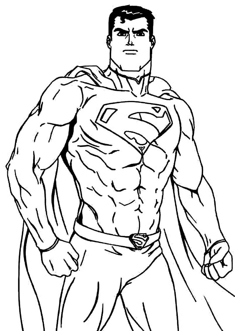 Imagem de Super-Homem para pintar