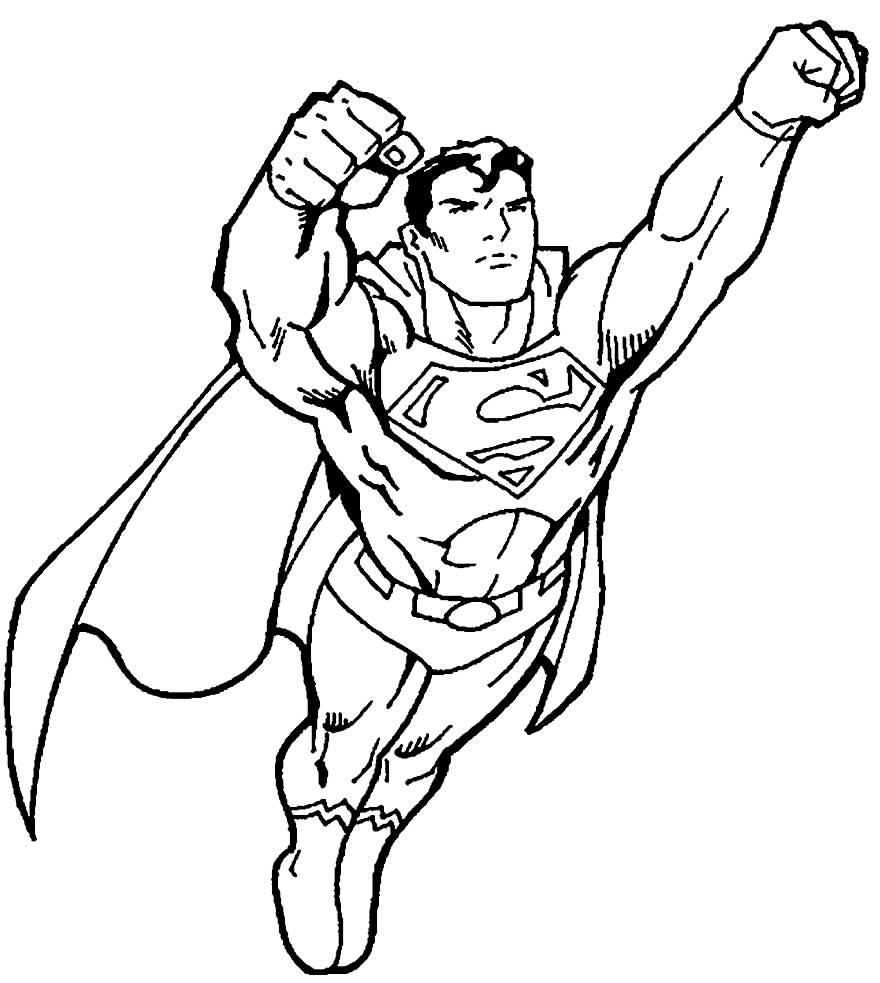 Desenho de Super-Homem para pintar