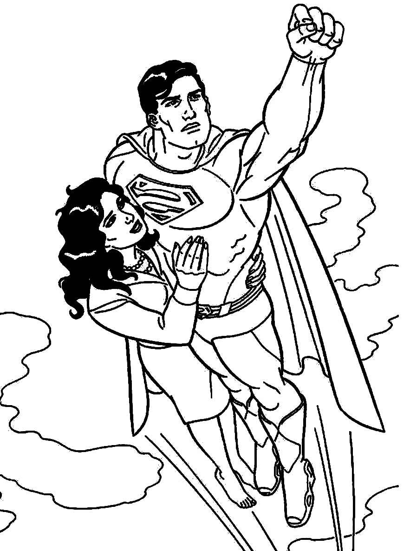 Desenho de Super-Homem para colorir