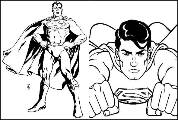 Desenhos De Super Homem Para Colorir Como Fazer Em Casa