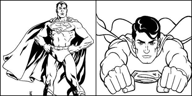 Desenhos de Super-Homem para colorir