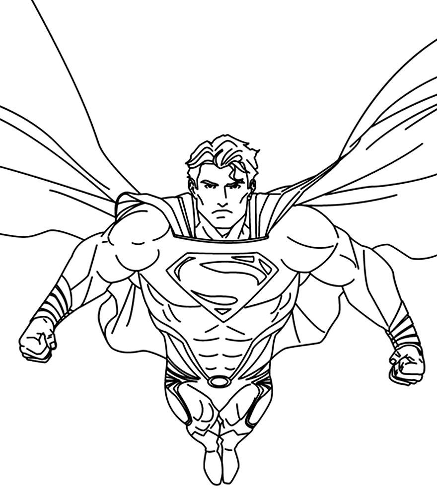 Desenho do Super-Homem para colorir