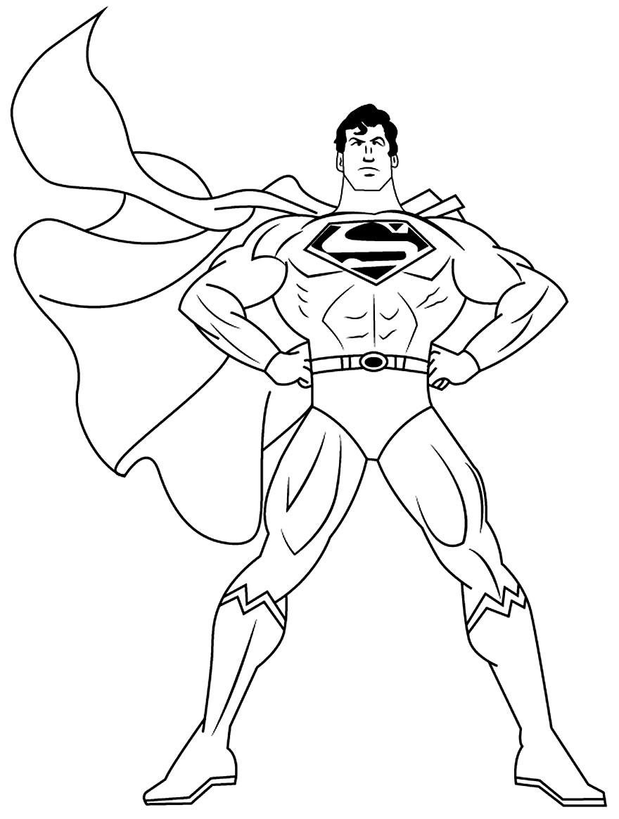 Imagem do Super-Homem para pintar