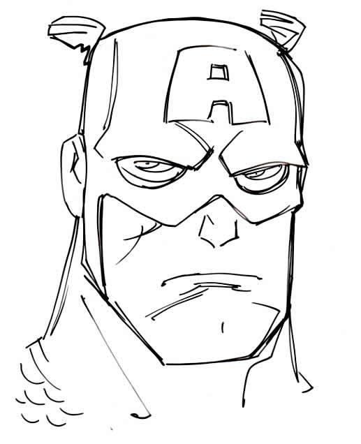 Desenho de Capitão América