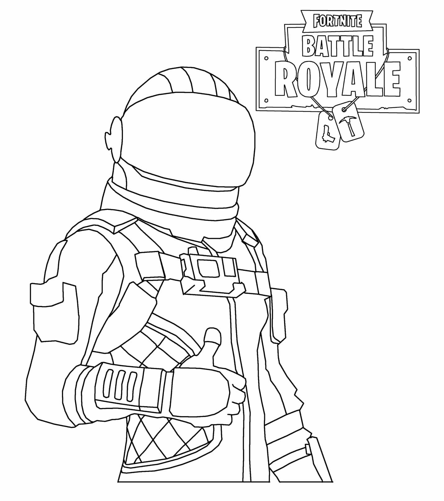 Desenho de Fortnite para colorir