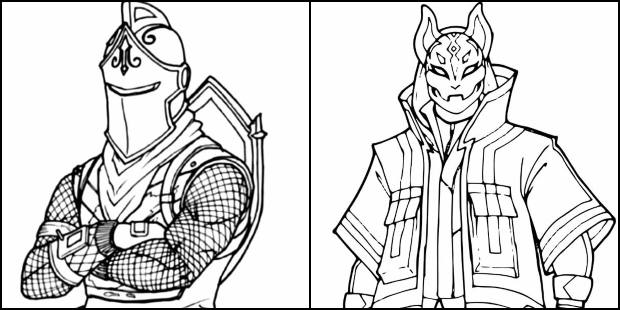Desenhos de Fortnite para colorir