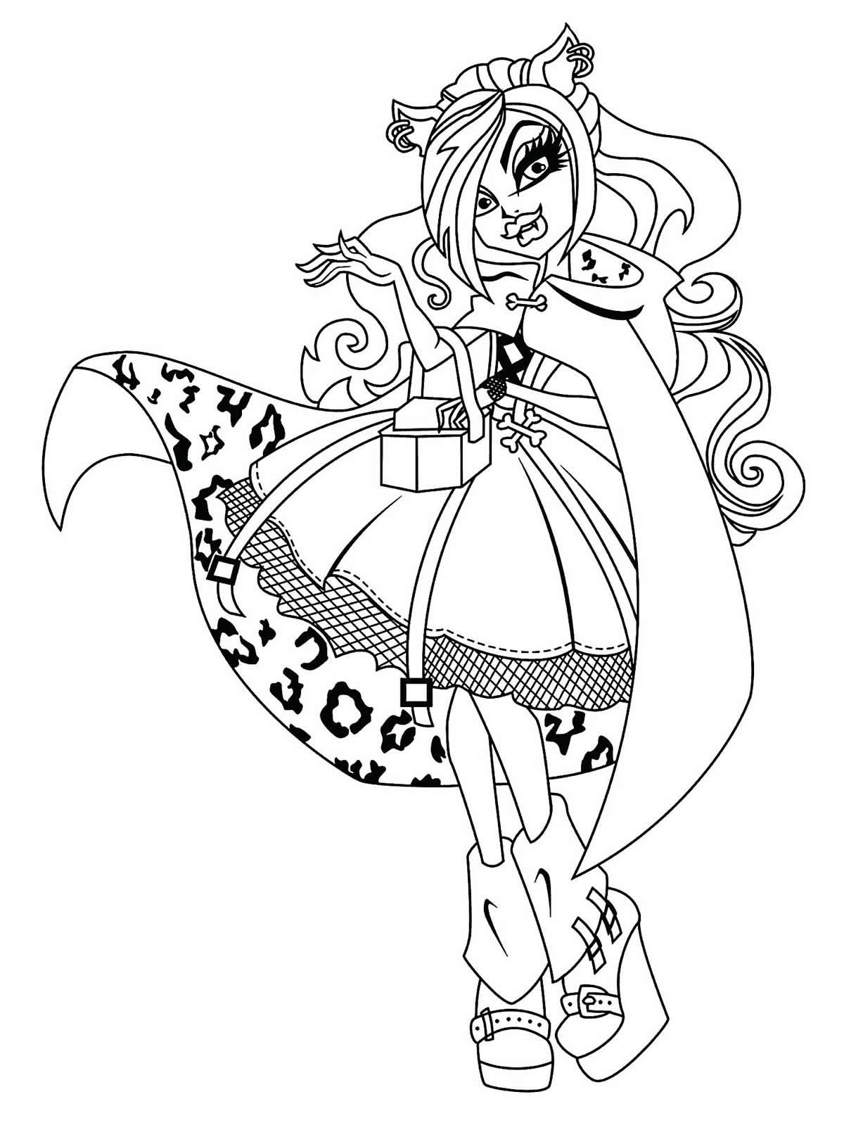 Molde de Monster High