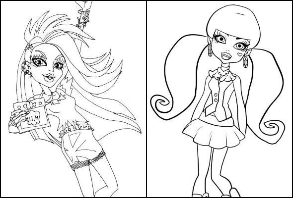 Desenhos de Monster High para colorir