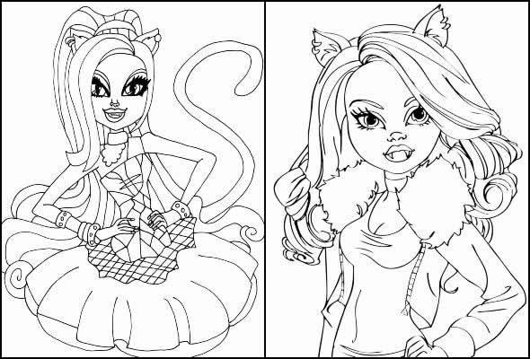 Desenhos de Monster High para pintar e colorir