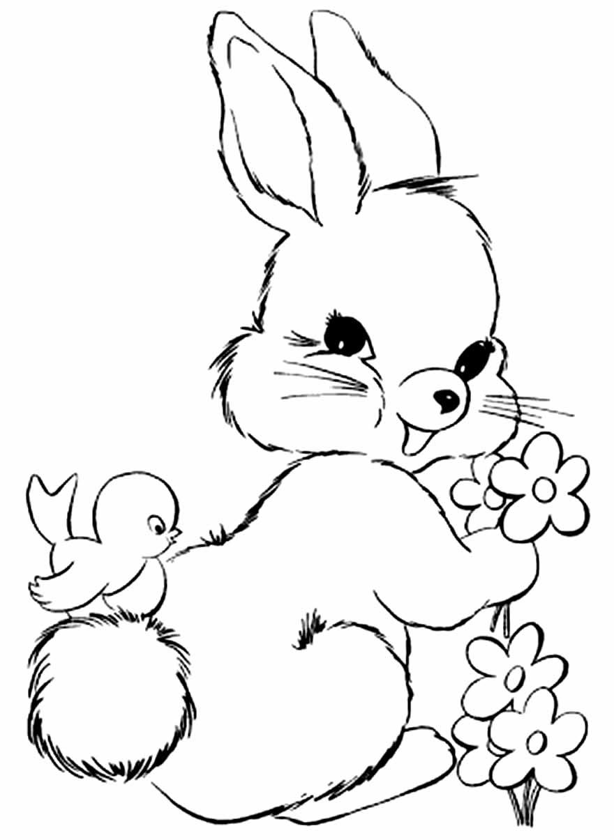 Desenho de Coelhinho de Páscoa
