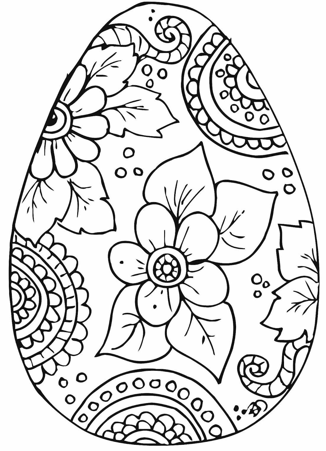 Desenho de Ovo de Páscoa