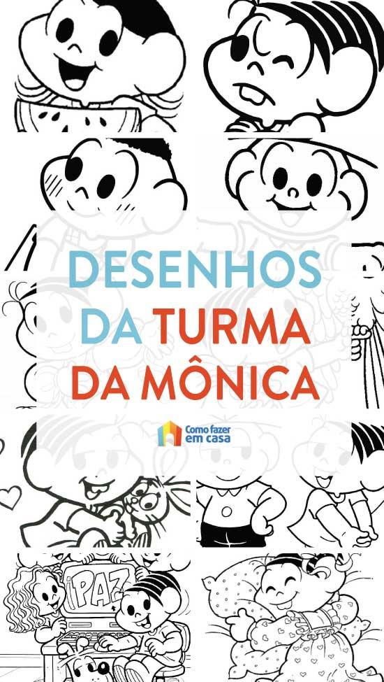 Desenhos Da Turma Da Monica Para Colorir Como Fazer Em Casa