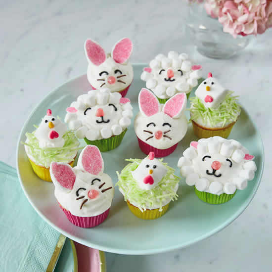 Cupcakes decorados de Páscoa