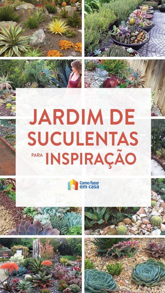 10 inspirações para fazer um jardim de suculentas