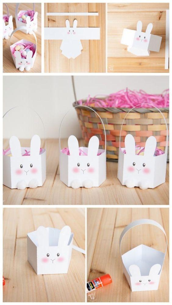 como fazer cesta de páscoa