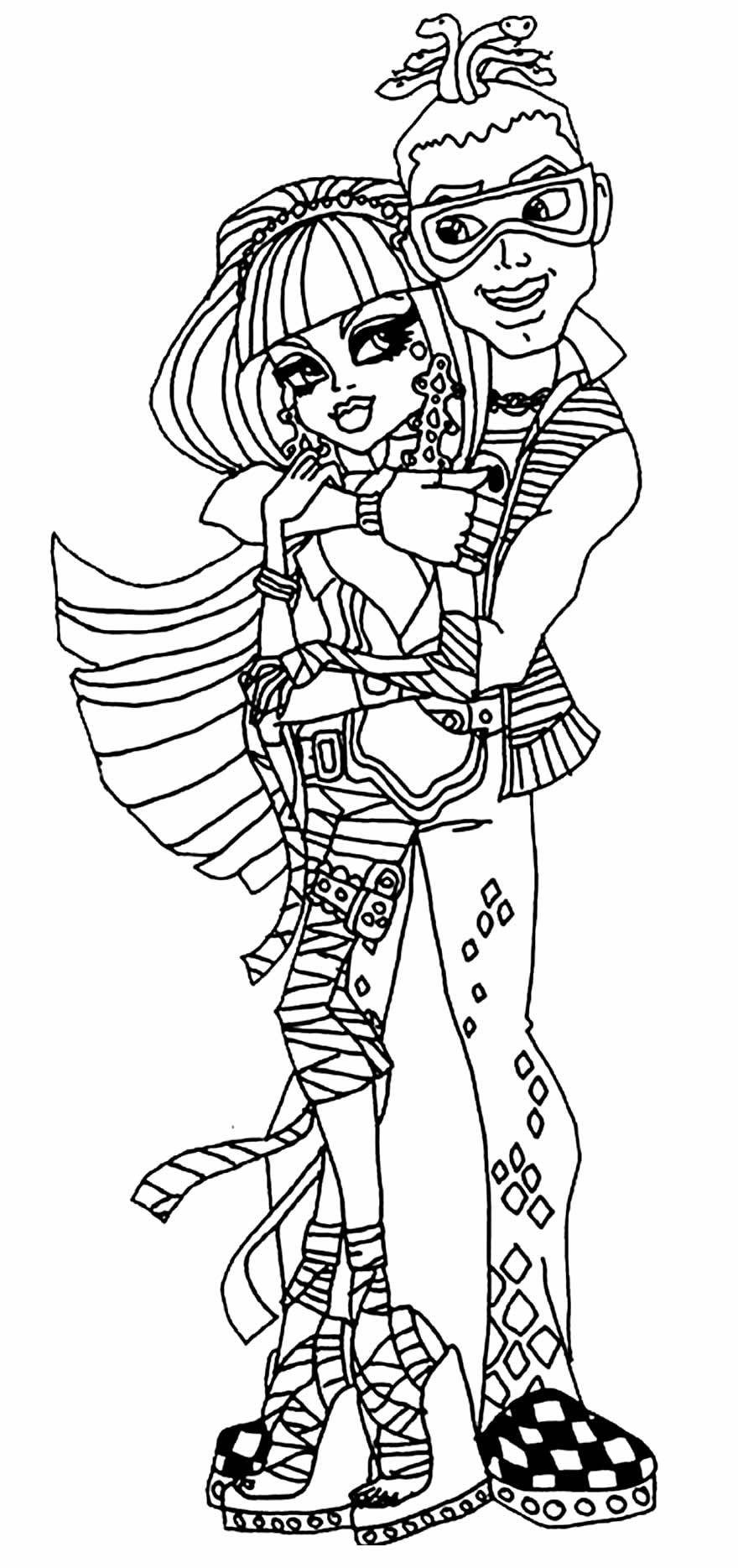 Modelo de Monster High para colorir