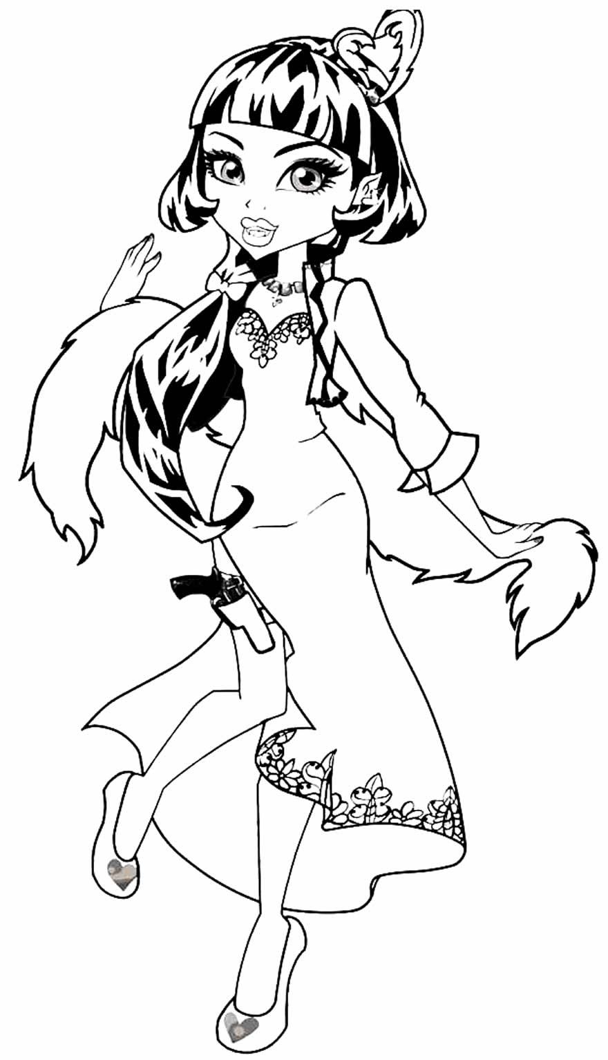 Imagem de Monster High para pintar e colorir