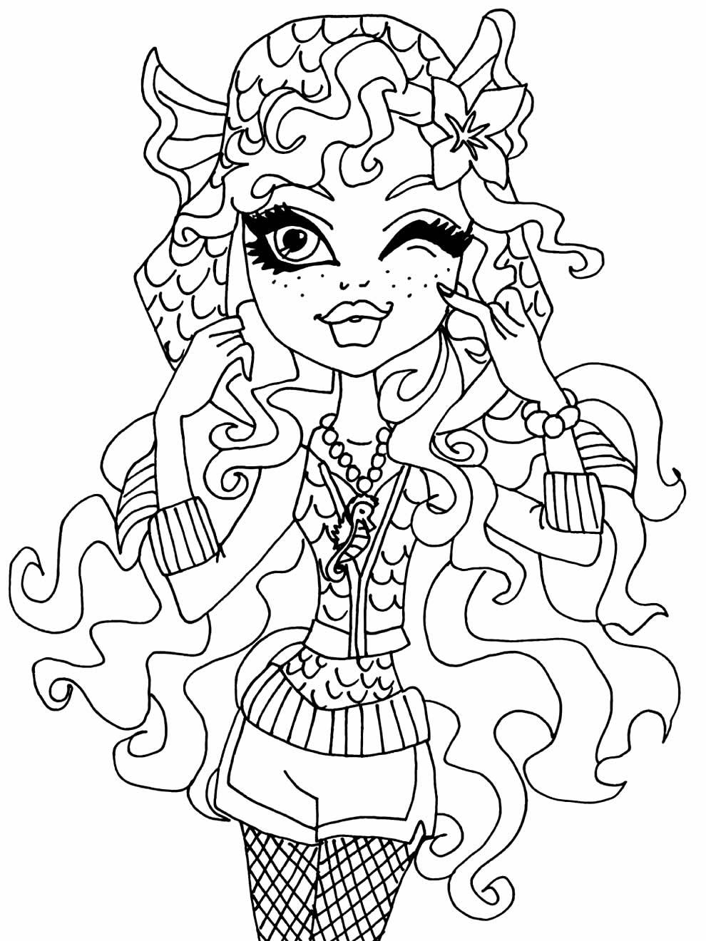 Imagem de Monster High para imprimir e colorir