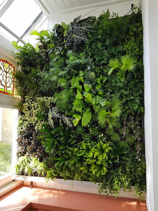 Ideias para parede viva para varanda