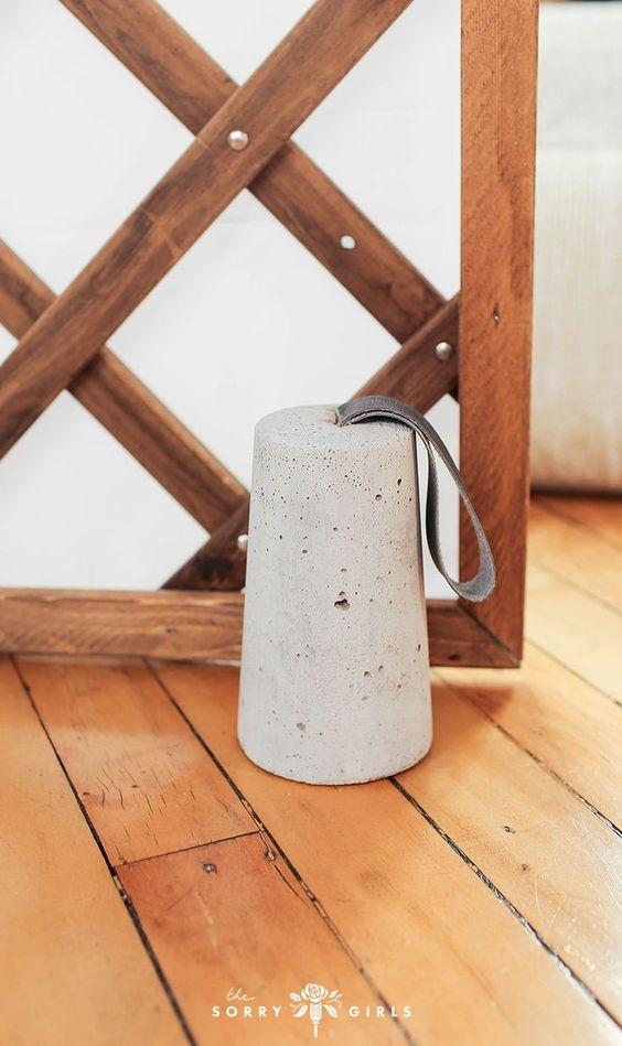 peso de porta com cimento