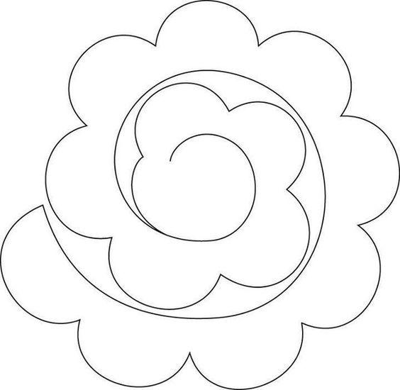 molde Arranjo de flores de feltro