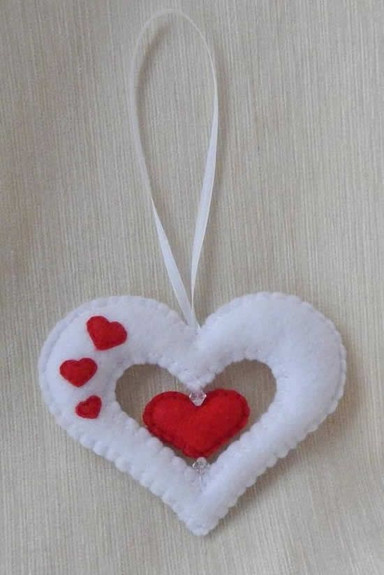Artesanato em feltro para o Dia das Mães