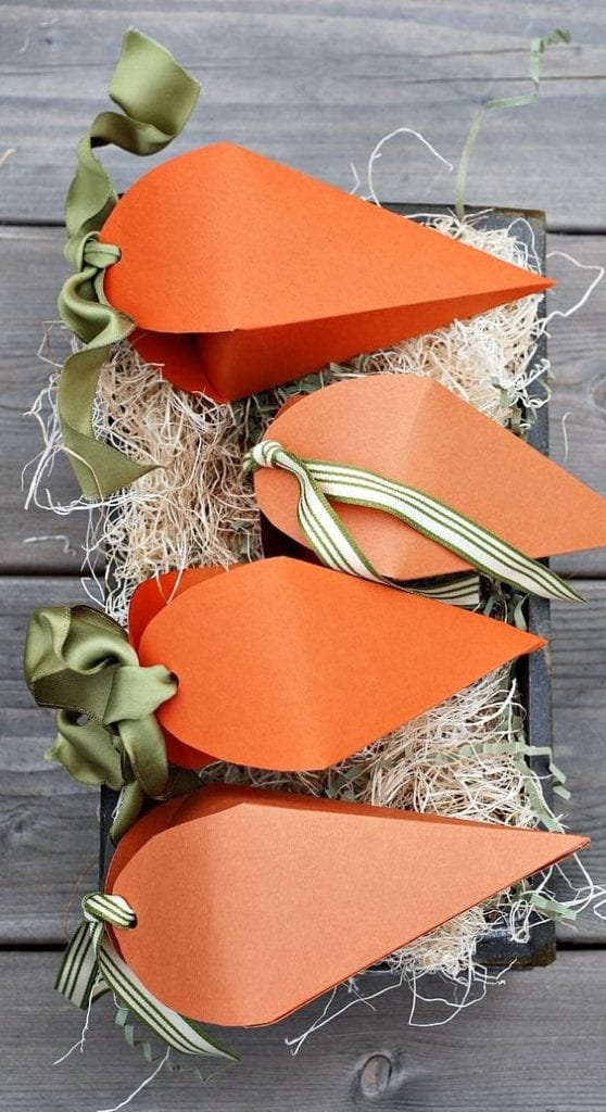 porta guloseimas de cenoura