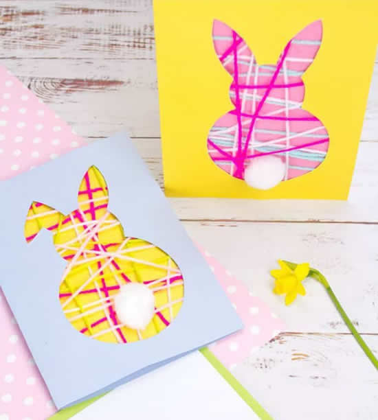 Cartão lindo com coelhinho
