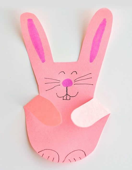 Coelhinho de papel - Atividade para fazer com crianças
