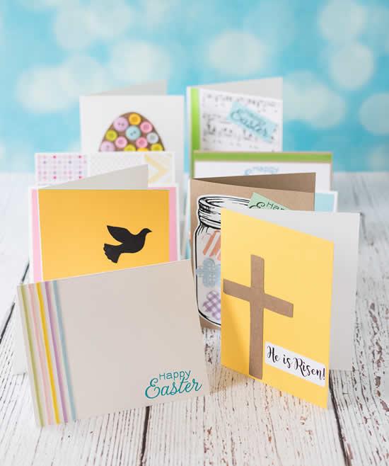 Cartões de Páscoa com papel