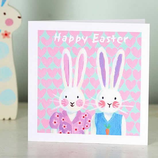 Cartão de Páscoa com papel