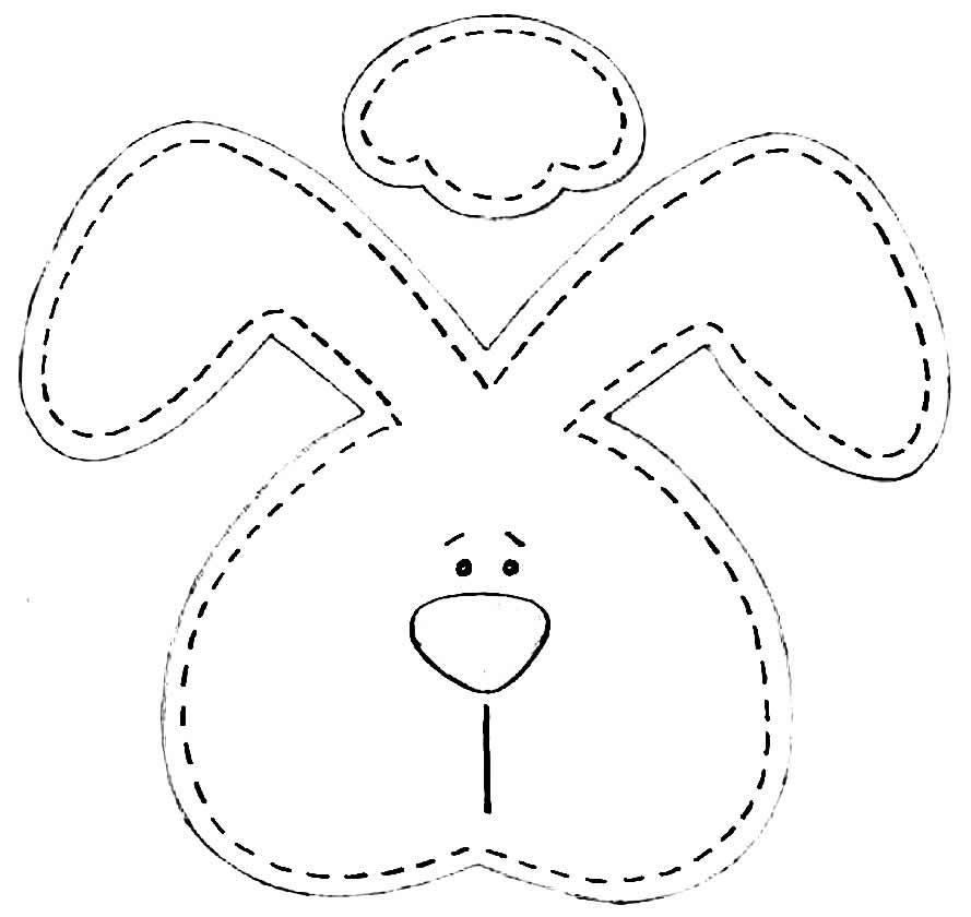 Molde de coelhinho em EVA