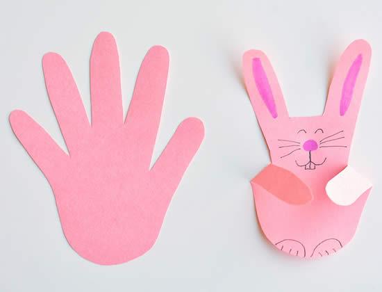 Coelhinhos para fazer com as crianças