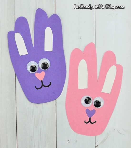 Lindos coelhinhos de papel fáceis de fazer com as crianças