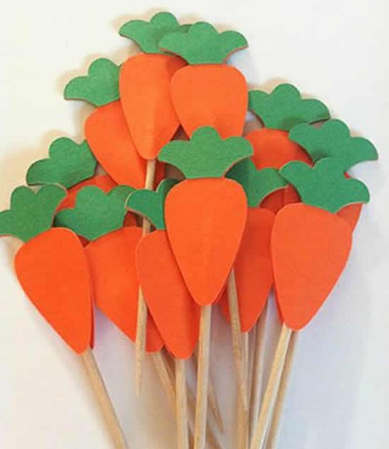 Lindas cenouras para Páscoa