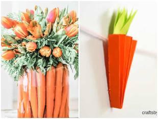 Decoração com cenoura para Páscoa