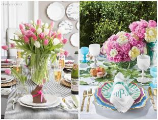 Arranjos de flores para mesas de Páscoa