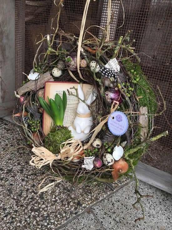 Linda decoração rústica para a Páscoa