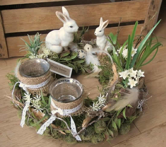 Decoração rústica de Páscoa
