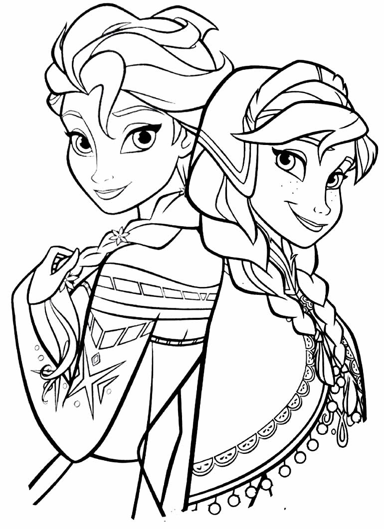Desenho para colorir da Elsa - Frozen