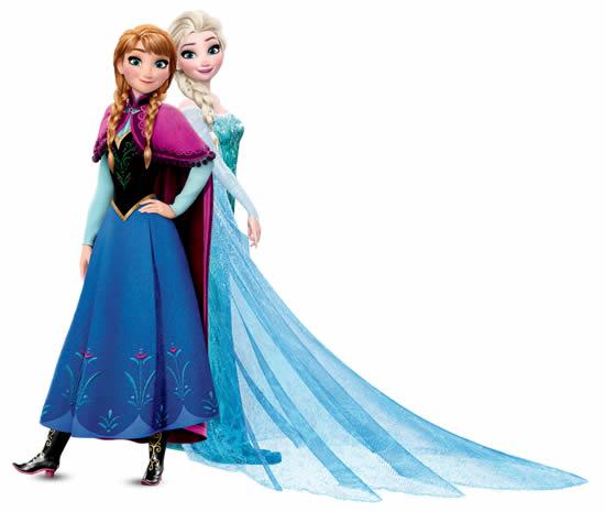 Desenho da Frozen para colorir