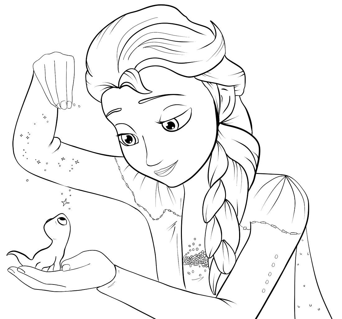 Desenho lindo da Frozen